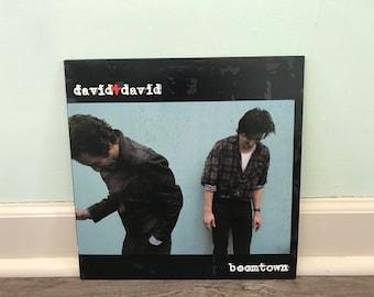 "David + David ""Boomtown"" vinyl record"