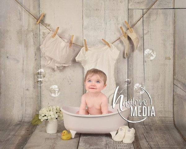 Newborn Baby Toddler Child Bubble Bath Tub Photography
