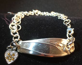 Antique silverware spoon bracelet