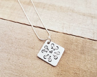 Bicycle Cycling Necklace