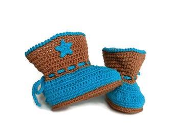Baby boy cowboy boots, Cowboy crochet boots, Newborn cowboy boots, Cowboy photo prop, Western cowboy, Baby boy boots, Spurs, Cowboy booties
