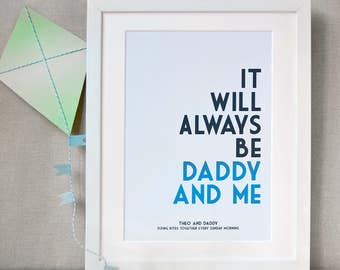 Daddy And Me Personalised Print - Father's Day Print - Daddy And Child Personalised Print - First Father's Day Gift