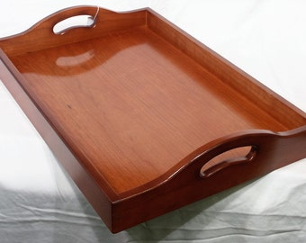 Wood Serving Tray - Cherry (Burnt Siena)