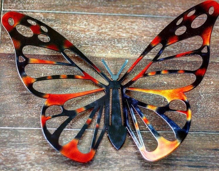 Metal Butterfly Laser cut metal art Laser cut butterfly