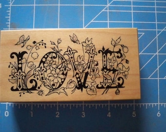 Large Love Ink Stamp ~ Nicely Detailed!