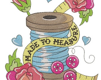 Made to Measure - Tattoo Design Machine Embroidery Pattern (Digital Download)