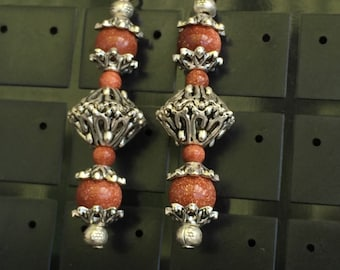 Sunstone bead Earrings