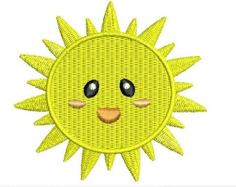 1 of 1   Sun Sunlight Summer EMBROIDERY Design Sunshine Embroidery Fill Design Machine Embroidery Instant Download ER755F