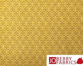 Gold and Mocha Tonal Fabric