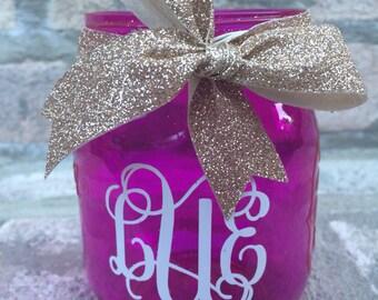 Monogrammed Decorative Mason Jar