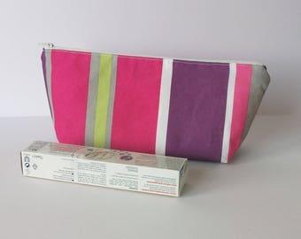 Toilet bag girl cotton fabric