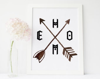 gallery wall print Arrow print, Home, Arrow wall art, Watercolor Arrow, Tribal wall art, home sweet home, boho print, arrow printable