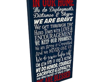 In this House we do Deployment, Sign for the military family, Military Family Sign, Father's Day Gift, Military Family rules