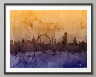 London Skyline, London Cityscape England, Art Print (988)
