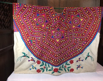 Double sided huipil work of art