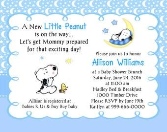 Snoopy Baby Shower Invitations Etsy