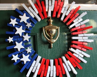 4th July Wreath - Patriotic Wreath - Fourth of July Wreath - American Flag Wreath - Veterans Day Wreath - Americana - Stars and Stripes