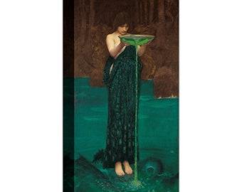 John William Waterhouse Circe Invidiosa Canvas Wall Art Home Decor Gift for Her gift Canvas Print Canvas Art Ready To Hang