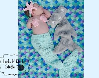 newborn mermaid, newborn crochet mermaid, newborn mermaid outfit, crochet mermaid, crochet mermaid outfit, newborn girl crochet outfit