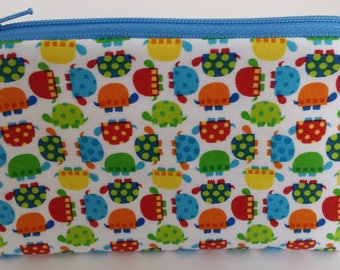 Little Zipper Pouch - Tiny Turtles // Coin Purse // Gift Card Holder // Party Favor // Stocking Stuffer // Gift for Kids