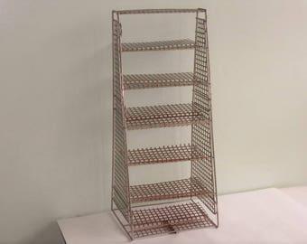 Vintage Industrial Metal Mesh 6-Tier Shelf