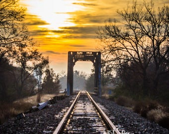 Railroad Tracks at Sunrise