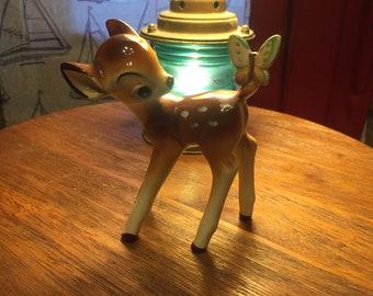 Vintage Walt Disney Productions Japan Bambi Butterfly Figurine
