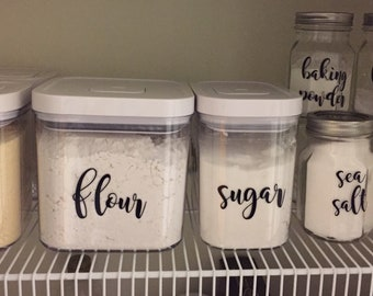 Canister labels with free shipping, pantry labels, kitchen organization, kitchen gift for mom