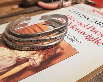 Alice's Wonderland Alice in Wonderland 3 aluminium bracelets Fattoamano Lately many of those strange things had happened