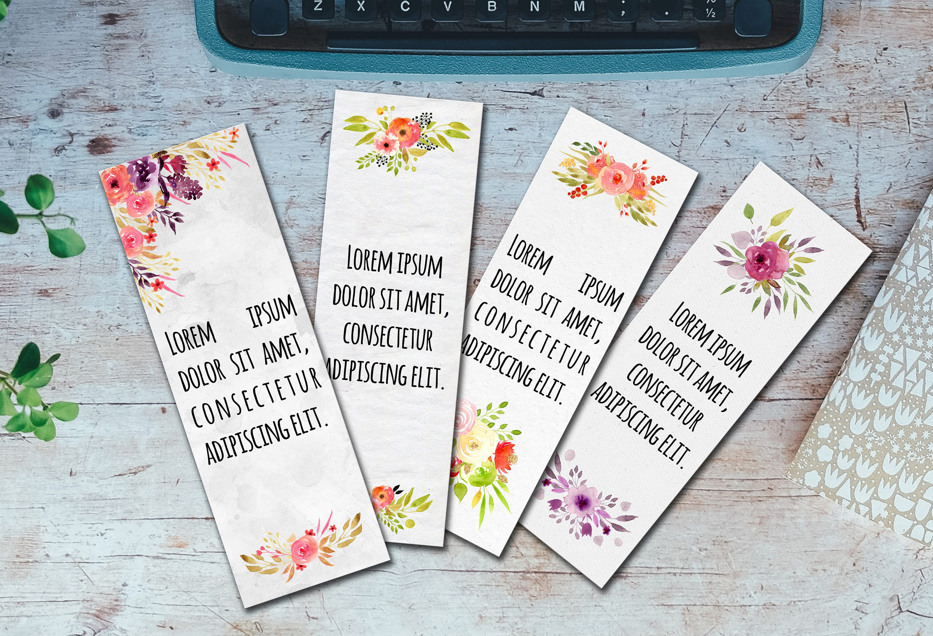 Editable Bookmarks Template Word Bookmarks Template Editable