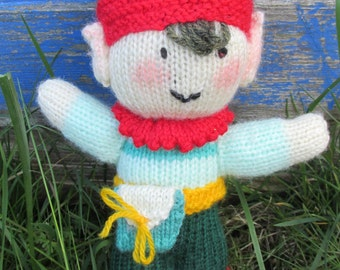 SALE ~ Hand-Knitted Pixie Doll - Woodland/Fairy Land/Forest Folk/Little People