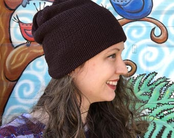 ReSweater Hat - Brown Cotton