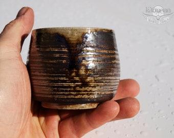 Yunomi, tea bowl  tea cup matcha herbal cup(140 ml),woodfired, Japanese spirit ceramic white stoneware by KaouennCeramics