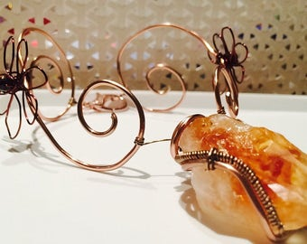 Wire Wrapped Crystal Necklace