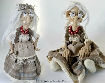 081 Charming Witch - Crochet Pattern PDF file Amigurumi by Astashova Etsy