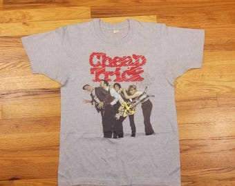 Vinatge 80s 83 84 Cheap Trick Concert Tour Rock Shirt Rare Next Position Please Size Large L