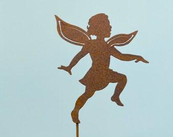 Dancing Girl Fairy Stake | Garden Stake | Fairy Garden | Faerie Garden | Pixie Art | Metal Planter Stake | Metal Yard Art | Fairy Stake S911