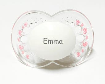 Mam pacifier etsy personalized pacifier mam pacifier baby girl personalized pacifiers monogram pacifier personalized baby girl gift clear pink negle Gallery