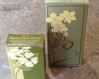 Vintage Avon Wild Jasmine & Dogwood Apple Blossom Cologne Fragrance Original Box Set of 2