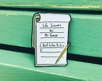 Boy Meets World Notepad Pin