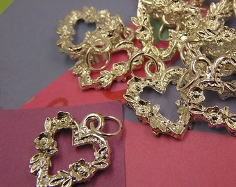 023 Silver Heart of Roses Charms