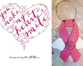 Breast Cancer Wings Ornament