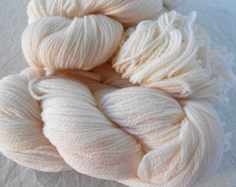 2 hanks of White Yarn