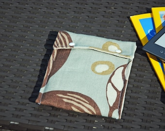 Kindle Case (Duck Egg Blue and Brown)
