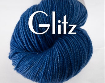 Glitz Yarn (Gold Sparkles) in your choice of colors