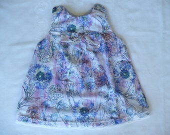 BABY GIRL DRESS, baby, girl, toddler, blue, summer, holiday, special occasion, handmade
