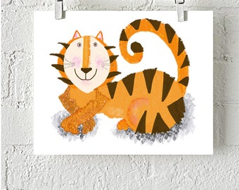 Meet Tom the Tiger instand download digital Print Great for kids  Rooms