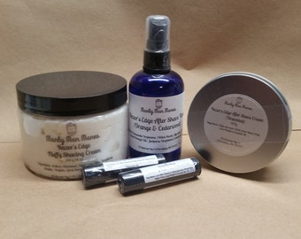 Shaving Combination / Shaving Cream / After Shave / Homemade / Lip Balm