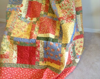 Bright and Perky Queen Quilt