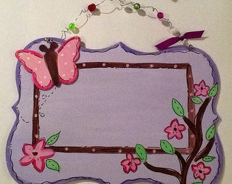 Butterfly Name sign, girls name sign, girls room sign, butterfly room sign, girls room door hanger